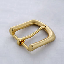 Load image into Gallery viewer, 35mm Men's Solid Brass Buckle Pin Buckles Women's Casual Pants Jean Belt Buckles DIY leather craft hardware accessories