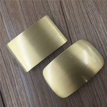 将图片加载到图库查看器,NEW men's Belt Buckle brush matte finished DIY Leather Craft solid brass Accessories Blank Rectangle round pin Buckles I.D4cm