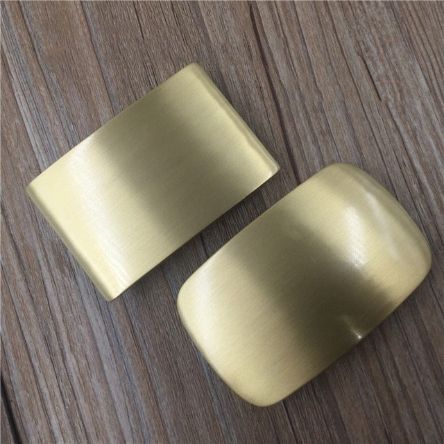 NEW men's Belt Buckle brush matte finished DIY Leather Craft solid brass Accessories Blank Rectangle round pin Buckles I.D4cm