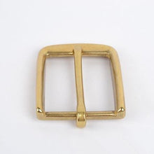 Load image into Gallery viewer, x 2019 High quality Solid brass pin buckle Men's Belt Buckles DIY Leather Craft Supply for 3.8cm-3.9cm Wide Belt accessories 40mm