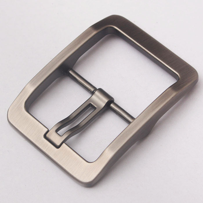 2/1pcs 38mm Metal Brushed Pin Belt Buckle Single wide Prong Square Buckle replacement buckle Leather Craft Fits any belt for Men