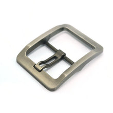 将图片加载到图库查看器,2/1pcs 38mm Metal Brushed Pin Belt Buckle Single wide Prong Square Buckle replacement buckle Leather Craft Fits any belt for Men