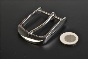4cm Solid Stainless Steel Belt Buckle Pin Buckle mirror Brushed Belt Buckle for Men Cowboy Buckle DIY Leather Craft Fit 38mm