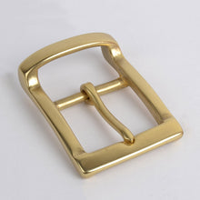 Load image into Gallery viewer, 40mm solid brass pin buckles for belt copper buckle head DIY Leather craft Accessories Fashion Mens Womens Jeans Accessories