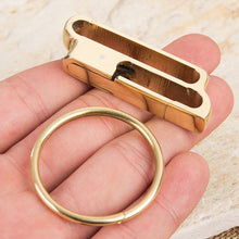 Load image into Gallery viewer, 1pc brass Carabiner Camping Clip Outdoor Key Ring Clip Keychain Holder Keyring Hang Buckle Hook Carabiner Camping Clip
