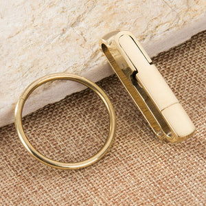 1pc brass Carabiner Camping Clip Outdoor Key Ring Clip Keychain Holder Keyring Hang Buckle Hook Carabiner Camping Clip