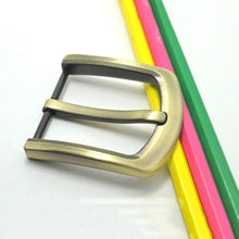 Load image into Gallery viewer, 4cm/1.57inch high quality Fashion belt buckle Pin Buckle mens Belt Buckle Brushed Metal DIY Leather Craft Hardware  Accessories