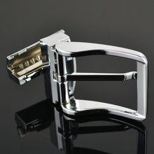 将图片加载到图库查看器,35mm Solid pin buckle Men belt buckle rotate 360 Swivel Clips adjust Casual for double-sided belt DIY accessories Jeans Buckle