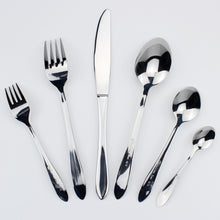Load image into Gallery viewer, LUCF Top Grade Stainless Steel Luxury Cutlery pretty Western Dinnerware cake fork coffee spoon 6pcs various size for housekeeper