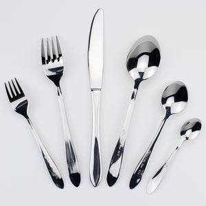 LUCF Top Grade Stainless Steel Luxury Cutlery pretty Western Dinnerware cake fork coffee spoon 6pcs various size for housekeeper
