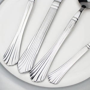 LUCF Royal vintage Style Stainless Steel Western archaistic metal Cutlery retro texture Dinnerware tableware for home hot sale