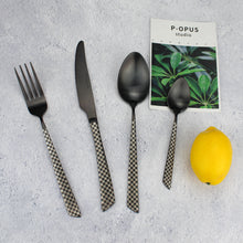 将图片加载到图库查看器,LUCF Top Grade fantastic matte Stainless Steel Western Dinnerware pattern perfect shape 4 in 1 standard Cutlery sets Tableware