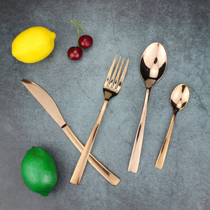 LUCF original 4pcs/set Stainless Steel Colorful Western Dinner Untensils fashion Cutlery Sets for home kitchen store recommend
