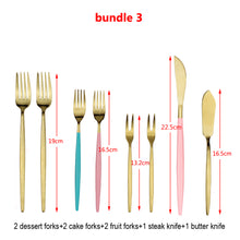 将图片加载到图库查看器,LUCF Hot Style Stainless Steel Western Cutlery Set various tableware Knives/Forks/Spoon Sets Popular fashion Dinnerware Set