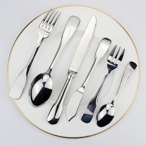 LUCF Top Grade Practical Cutlery Stainless Steel Western Dinnerware with Fish Fork Fish Knife optional hot sale useful tableware