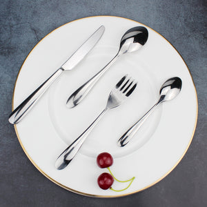 LUCF elegant style thick handle Stainless Steel Western Cutlery separate sale good touch Dinnerware Fork/Knife/Spoon for family