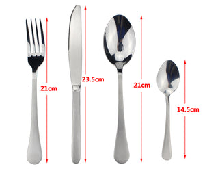 LUCF original brand Stainless Steel 4 Pcs/Set Colorful Popular Western Cutlery Set durable elegant Dinnerware Set high quality