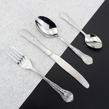 Load image into Gallery viewer, LUCF Elegant Royal pattern Western Cutlery Stainless Steel Mirror Polishing metal Dinnerware tableware for kitchen restaurant