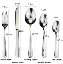将图片加载到图库查看器,LUCF Useful Dinnerware best matching Stainless Steel Western Flatware 10pcs untensil Separate Sale Practical Cutlery Full Sets