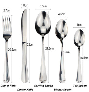 LUCF Useful Dinnerware best matching Stainless Steel Western Flatware 10pcs untensil Separate Sale Practical Cutlery Full Sets