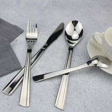 Load image into Gallery viewer, LUCF New Fashion style Stainless Steel Western Dinnerware set Powerful cutter teeth Brife metal Cutlery for Family Restaurant