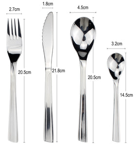LUCF New Fashion style Stainless Steel Western Dinnerware set Powerful cutter teeth Brife metal Cutlery for Family Restaurant