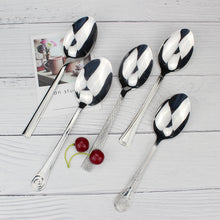 将图片加载到图库查看器,LUCF Classic Stainless Steel Serving Spoon Popular Tradional metal Serving Scoop Usefel Dinnerware Cutlery For Restaurant Hotel