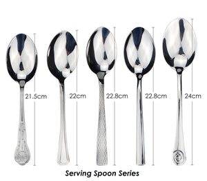 LUCF Classic Stainless Steel Serving Spoon Popular Tradional metal Serving Scoop Usefel Dinnerware Cutlery For Restaurant Hotel