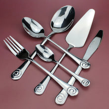 Load image into Gallery viewer, LUCF Stainless Steel Western Practical Dinnerware with Cake Server 6pcs Separate Resonable Cutlery Mirror Polish for family
