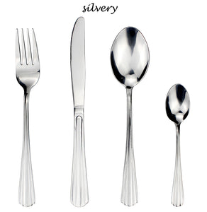 LUCF 4 Pcs/Set traditional Stainless Steel Western Dinnerware Set metal vintage style Cutlery Sets flatware for restaurant