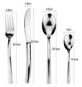 LUCF classic style Stainless Steel Western Cutlery mirror polish single sale Dinnerware Fork/Knife/Spoon for Family Restaurant