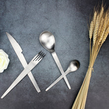 将图片加载到图库查看器,LUCF Fashion Trend style Stainless Steel Western Dinnerware Single Piece Brife Cutlery Fork/Knife/Spoon for Party Restaurant