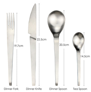 LUCF Fashion Trend style Stainless Steel Western Dinnerware Single Piece Brife Cutlery Fork/Knife/Spoon for Party Restaurant