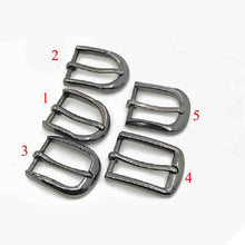 将图片加载到图库查看器,Metal 2.5cm Zinc Alloy Pin Buckle New Belt Buckle Men's End Bar Heel bar Single Pin Belt Half Buckle Leather Craft Jeans Webbing