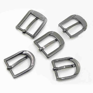 Metal 2.5cm Zinc Alloy Pin Buckle New Belt Buckle Men's End Bar Heel bar Single Pin Belt Half Buckle Leather Craft Jeans Webbing