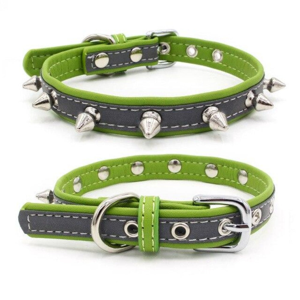 8.2 1Classic Spike Dog Collar Fashion Microfiber Collar for Small/Medium Dogs Anti-biting Spike Necklack Dog Supplies Pet Products