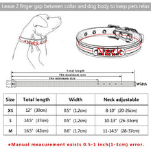 将图片加载到图库查看器,97 Personalized Dog Collar Reflective Leather ID Name Custom Engraved Puppy XS-L