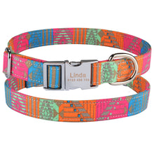 将图片加载到图库查看器,92 Fabric Personalized Dog Collar Custom Engraved Puppy Name Adjustable Pet S M L