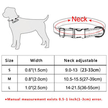 将图片加载到图库查看器,95 Fabric Dog Collar Personalized Custom Engraved Puppy Name Adjustable Pet S M L