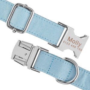 91 Personalized DOG Collar Durable Nylon Custom Engraved Dogs ID Name tag XS S M L