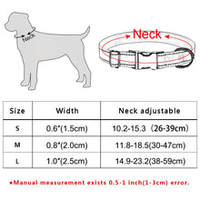 将图片加载到图库查看器,92 Polyester Personalized Dog Collar Floral Custom Engraved Small Medium Name Puppy
