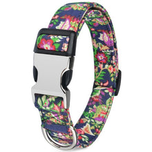 将图片加载到图库查看器,99 Small Medium Large Nylon Cool Pet Dog Collar Floral Puppy Pitbull Personalized Dog Collars