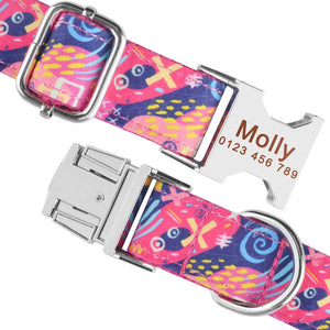 91 Personalized Dog Collar Durable Nylon Free Engraved Name Phone Number on Buckle