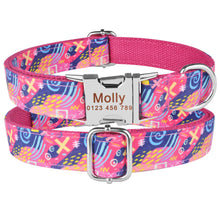 Load image into Gallery viewer, 91 Personalized Dog Collar Durable Nylon Free Engraved Name Phone Number on Buckle