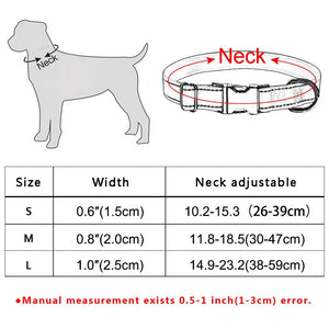 92 Personalized Dog Collar Free Engraved Small Medium Name Puppy Polyester Collars