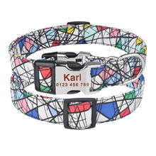 将图片加载到图库查看器,92 Personalized Dog Collar Free Engraved Small Medium Name Puppy Polyester Collars