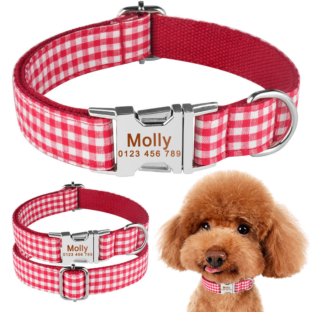 91 Small Puppy Medium Dog Large Pet Personalized Dog Collar Free Engraved Name Tag