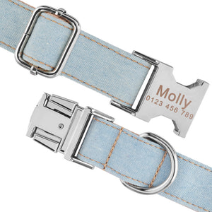 91 Personalized Dog Collar Durable Nylon Puppy Name ID Free Engraved on Buckle XS-L