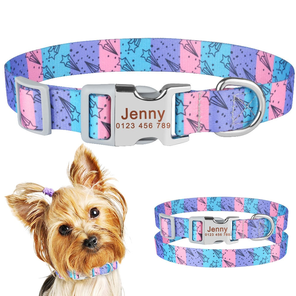 92 Personalized Dog Collar Custom Engraved Boy Girl Dogs Name Tag Adjustable S M L