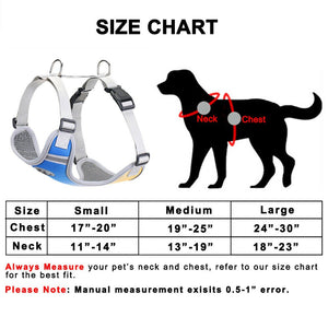 94 Small Number Medium Large Dog Strap Reflective Non-Pull Breathable Waliking Bull Husky